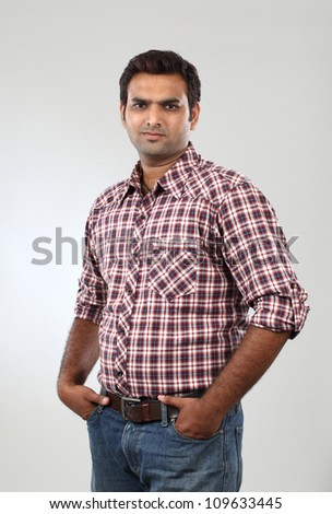 Young Indian student - stock photo