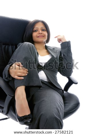 Young Indian woman at work - stock photo