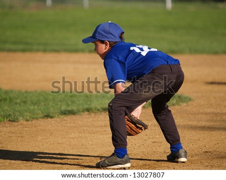 young infielder ready to play - stock photo