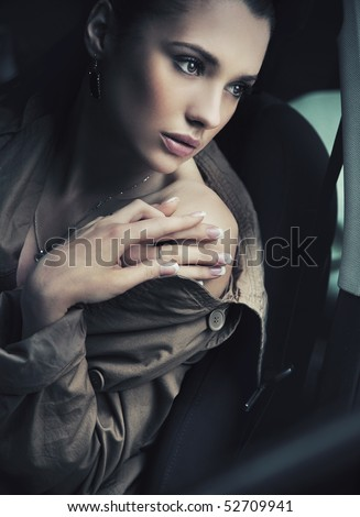 Young lady posing - stock photo
