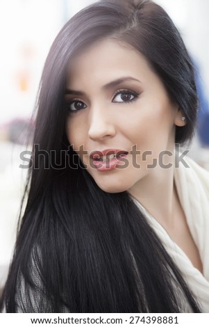 Young latin woman portrait