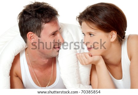 Young laughing couple