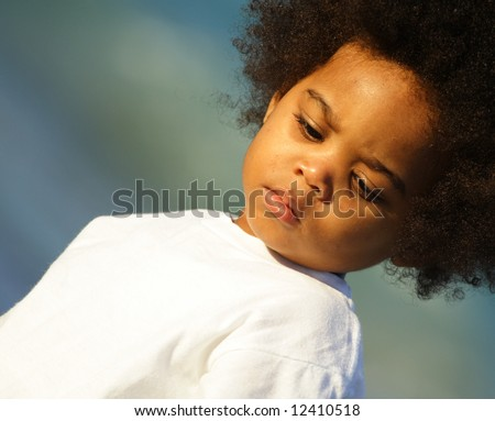 Young little boy - stock photo