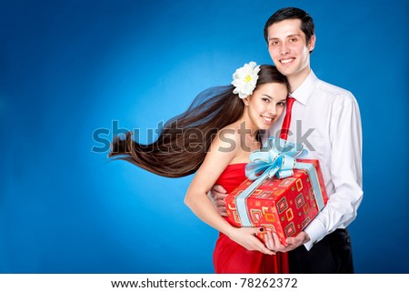 Young love Couple smiling - stock photo