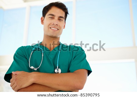 Young male doctor - stock photo