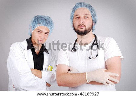 Young male doctors