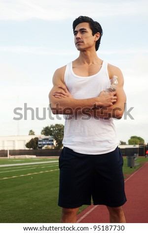 Young male latino athlete