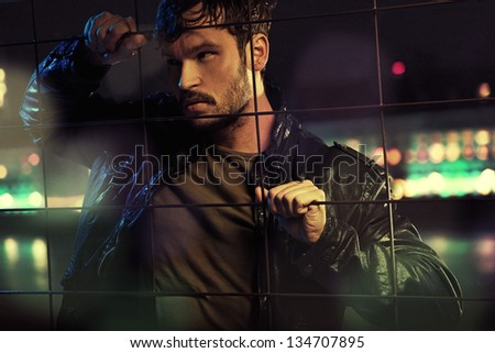 Young male model - stock photo