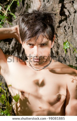 Young male model portrait - stock photo