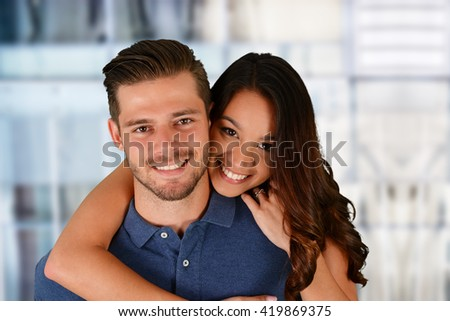 Young man and woman who are a couple