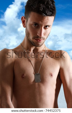 Young man at the beach