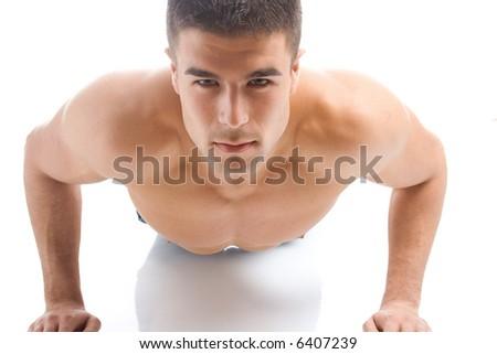young man athlete, studio shot - stock photo