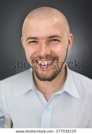 Young man closeup portrait - stock photo