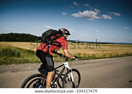 young man cycling Cross-country (XC)