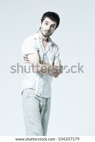 Young man doubt - stock photo