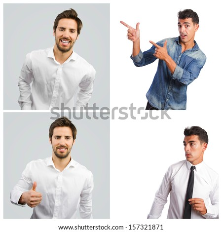 young man gestures - stock photo