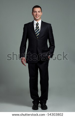 young man in a suit - stock photo
