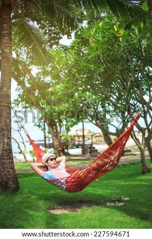 Coconut Palm Trees Blue Sea Stock Photo 77588026