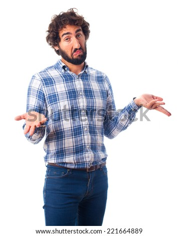 young man indifference - stock photo