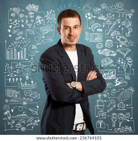 Young man life concept, lifestyle, sport, love, family, relations and children - stock photo