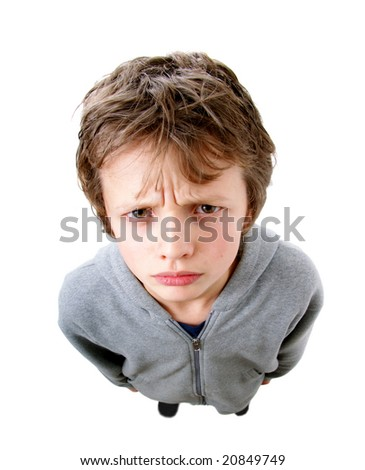 Young man looking unhappy - stock photo