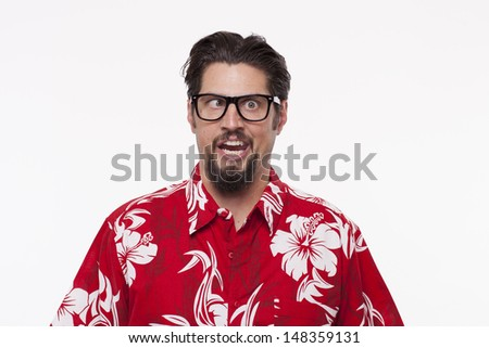 Young man making a face  - stock photo