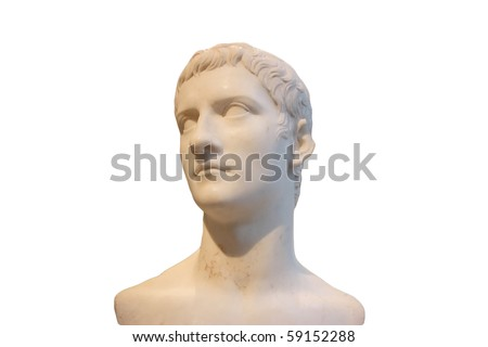 Young man marble bust - stock photo