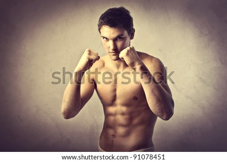 Young man on guard - stock photo