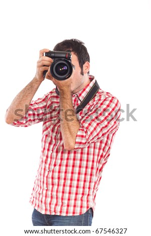 Young Man Photographer Taking Photos