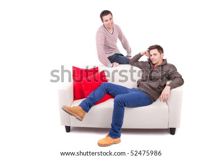 Young man posing isolated