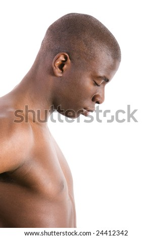 Young man relaxing, meditating - stock photo