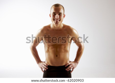 Young man's torso - stock photo