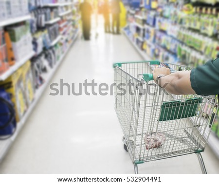 young man shopping in department store