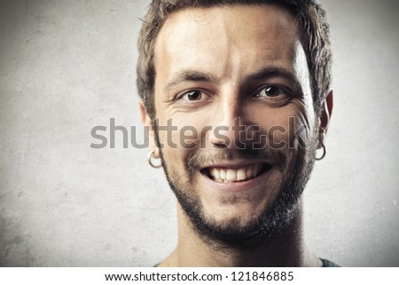 Young man smiling - stock photo