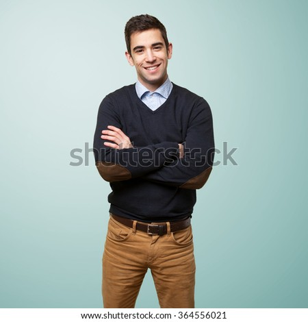 young man smiling happy - stock photo