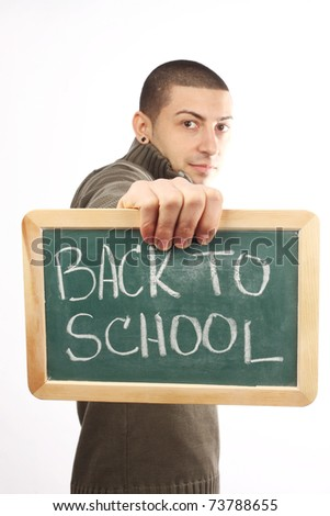 young man start school interest - stock photo