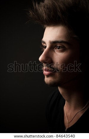 young man. studio portrait
