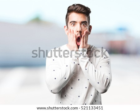 young man surprised