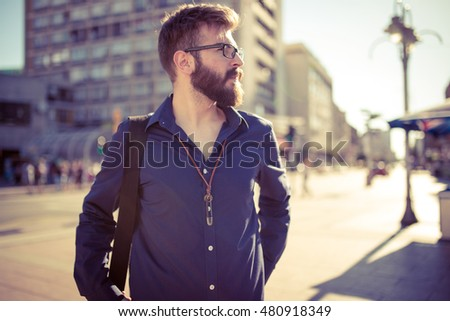 Young man taking a walk