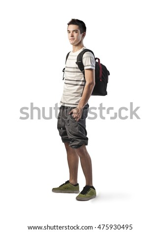 Young man wearing sporty clothes