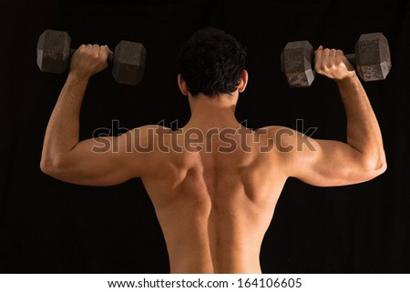 young man weightlifting