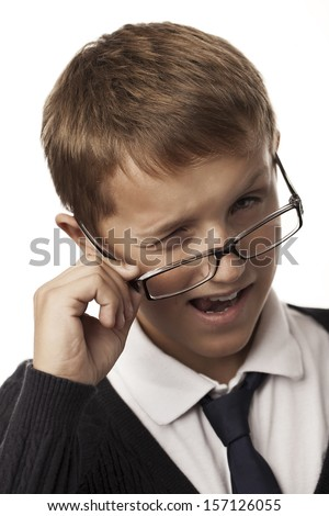 young man winking - stock photo