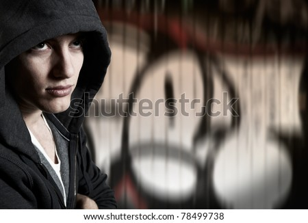 Young man with cool street style - stock photo