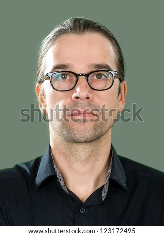 young man with glasses - stock photo