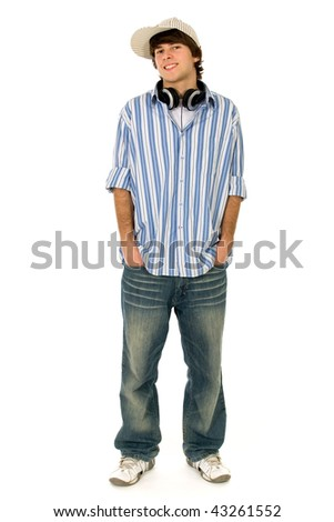 Young man with hands in pockets