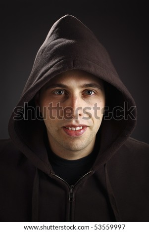 Stock Images similar to ID 2905531 - man in the hooded sweatshirt