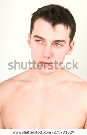 Young man with naked torso