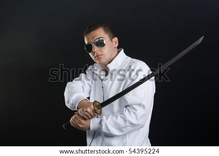 Young man with sword
