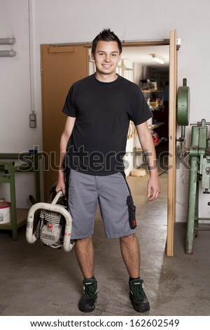 Young Man, Worker - stock photo