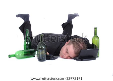 young manager after party - stock photo